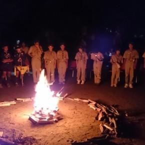 夏期行事報告会を甲山キャンプ場でキャンプファイヤーを囲んで盛大に行いました