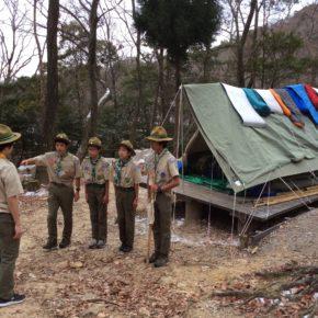 耐寒キャンプ in 西宮市社家郷山キャンプ場