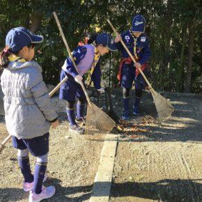 厳島神社清掃