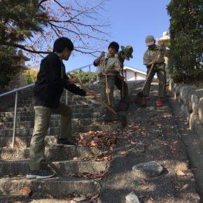 厳島神社 清掃